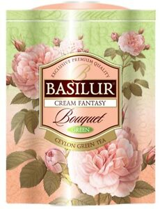 Basilur Flower Cream Fantasy Bouquet   Green Tea, Papaya, Amaranth, Strawberry by Basilur