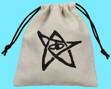 Q-Workshop CALL OF CTHULHU DICE BAG NEW Beige Drawstring Storage Pouch BCTH102