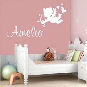 Amor Wall Stickers Personnalisation Nom Chambre Cupidon Decal-n Name Bedroom Cupid Decal Fr-fr Afficher Le Titre D'origine Grand Assortiment