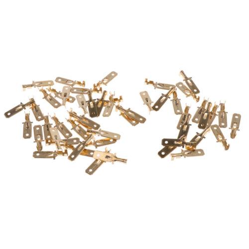 Flachstecker 50x Schnellkupplung 6,3 mm Messing Crimpanschlusskabel