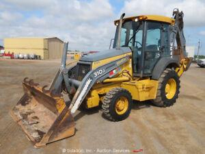 2011-John-Deere-310J-4x4-Backhoe-Wheel-Loader-Cab-E-Stick-Aux-Tractor-bidadoo