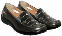 Ladies Pewter Cushion Walk Summer Slip On Casual Shoe In Size 4