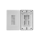 Pro2 Clipsal Design Style White Brush Wall Plate