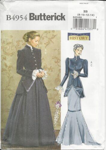 Patrones de corte B 4954 señora disfraz temprano siglo 20.