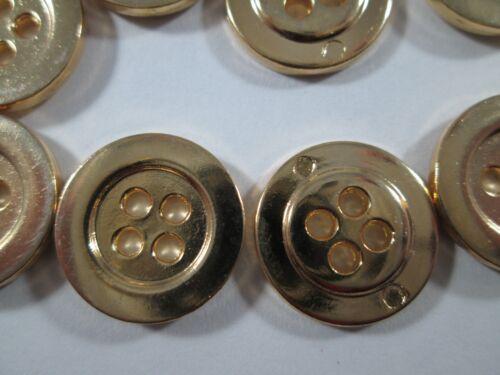 Métal Bouton Boutons 18 pièces Gold 16 mm #2743#
