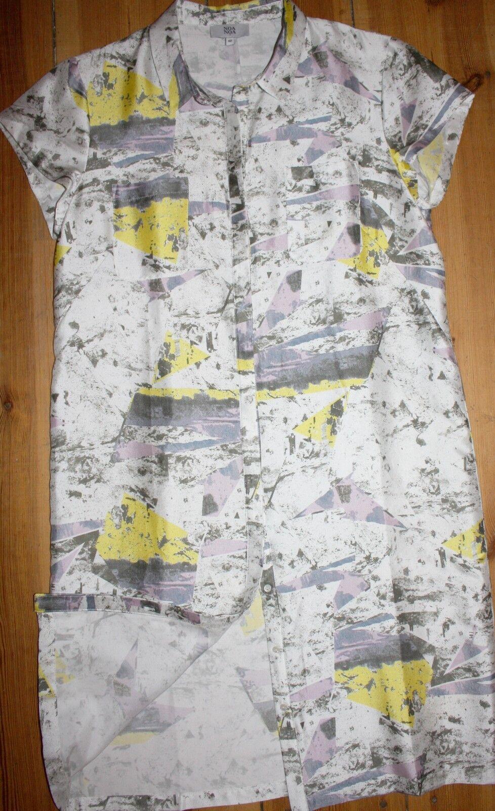Noa Noa Noa Noa PRINTED SILK BLEND DRESS MANICA CORTA SETA SILK multicolore Dimensione  40 m NUOVO 2e0d99
