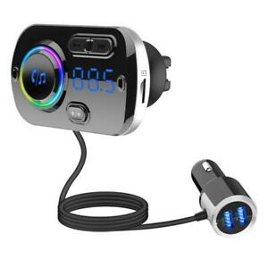 Portable-Wireless-Car-Bluetooth-MP3-Player-FM-Speaker-Phone-USB-fast-Charger-kit
