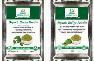 USDA-Certified-Organic-Henna-Powder-100g-Indigo-Powder-100g-Natural-Hair-Dye