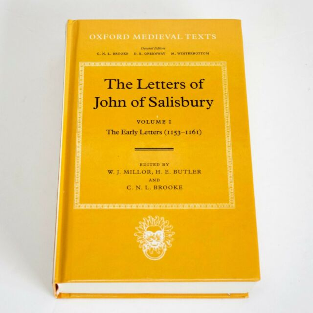 The Early Letters of John of Salisbury Volume I: Oxford Medieval Texts Hardback