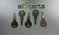 Ezgo Golf Cart Keys | Set Of 5 Keys 17063-g01