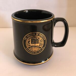 The-College-Of-Wooster-Coffee-Mug-Cup-Black-Gold-4-034-x-3-034
