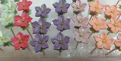 24 Gumpaste Blossoms Choose Your Color Decorate Your Cake/cupcakes Nourishing Blood And Adjusting Spirit s