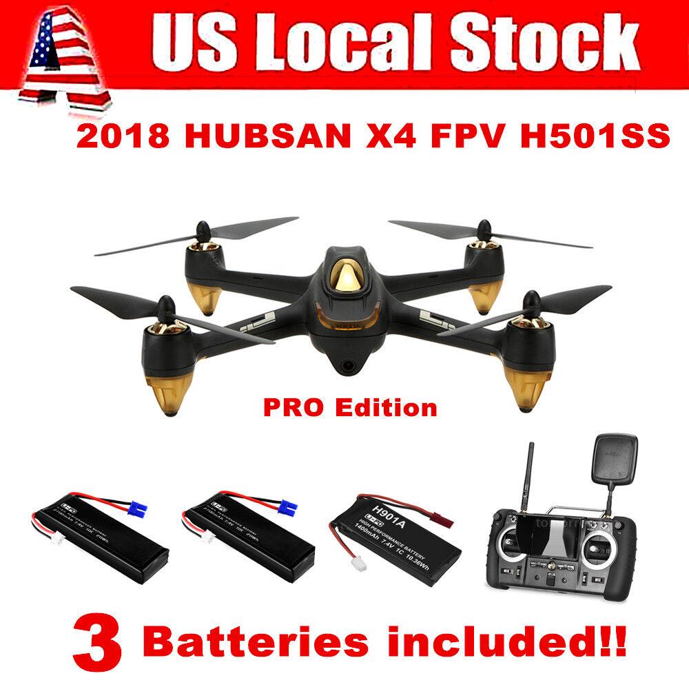 Hubsan X4 H501S Pro Drone FPV sin escobillas Control Remoto con Cámara 1080P GPS RTF
