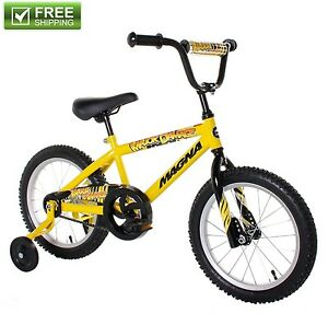 Yellow Boys Bike 16 Children Starter Bicycle Training Wheels Durable Kids Toy Ebay
