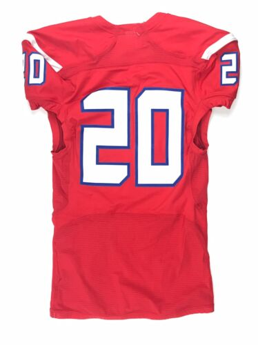 New Under Armour Men/'s L Hurricanes #20 Football Compfit 2 Impulse Red Jersey