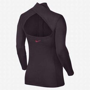 e2bd50fc0 Nike Pro Hyperwarm Women's Long Sleeve Training Top s Purple Half ...