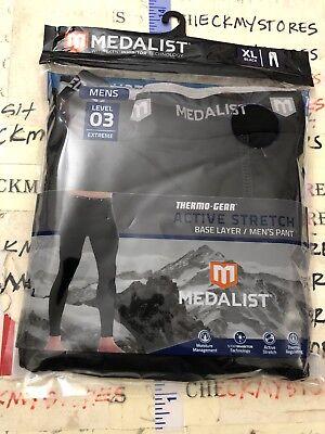MEDALIST Boys Comfort Stretch Performance Base Layer Crew Neck Top /& Pant Set Black