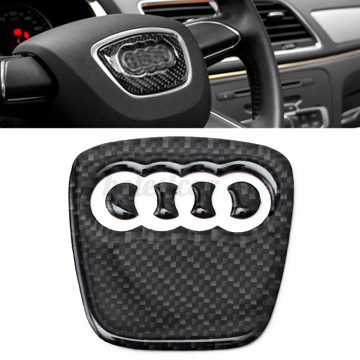 Carbon Fiber Steering Wheel Badge Emblem Sticker Decal For Audi A4 S4 A5 Q5 For Sale Online Ebay