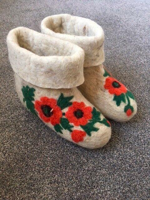 100% Wool Felt Home Stiefel & Slippers/Damens Stiefel/Größe 37