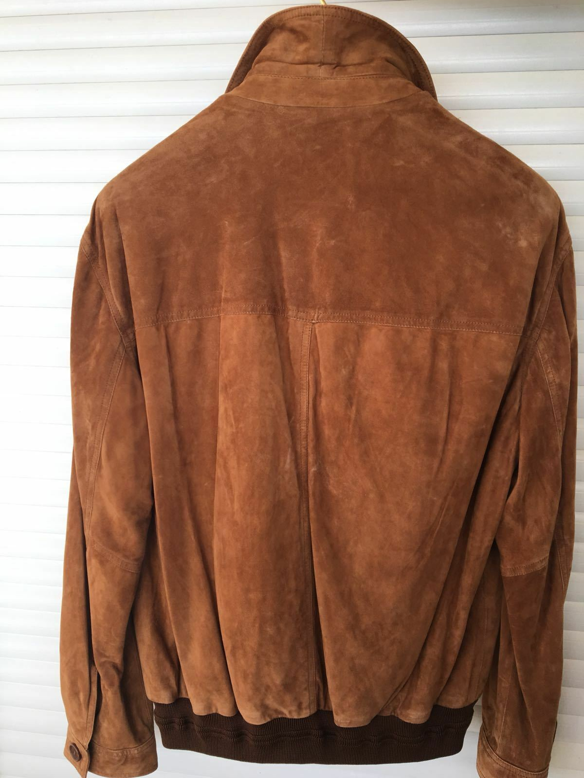 NEW Paul & Shark Yachting LEATHER LEATHER LEATHER Jacket Light Marronee Dimensione L 4eb0bd