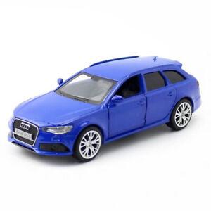 1-36-AUDI-RS-6-Avant-Carro-Coche-Modelo-Juguete-Diecast-Vehiculo-Ninos-Tire-hacia-atras-Azul