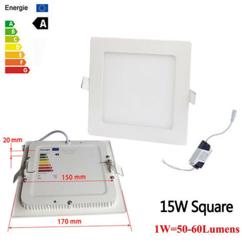 Dimmable Recessed LED Panel Light Ceiling Down Lights 9W 12W 15W 18W 21W