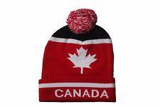 CANADA WITH WHITE MAPLE LEAF TOQUE HAT  .. VIVA..NEW