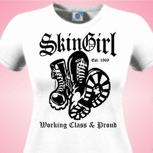SKINGIRL-WORKING-CLASS-amp-PROUD-SCOOTER-SkA-SKINHEAD-Rude-Girl-Ladies-T-SHIRT
