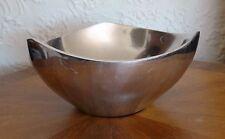 Richard Thomas Design Nambe 527 Tri Corner Silver Alloy Bowl Mid Century Modern