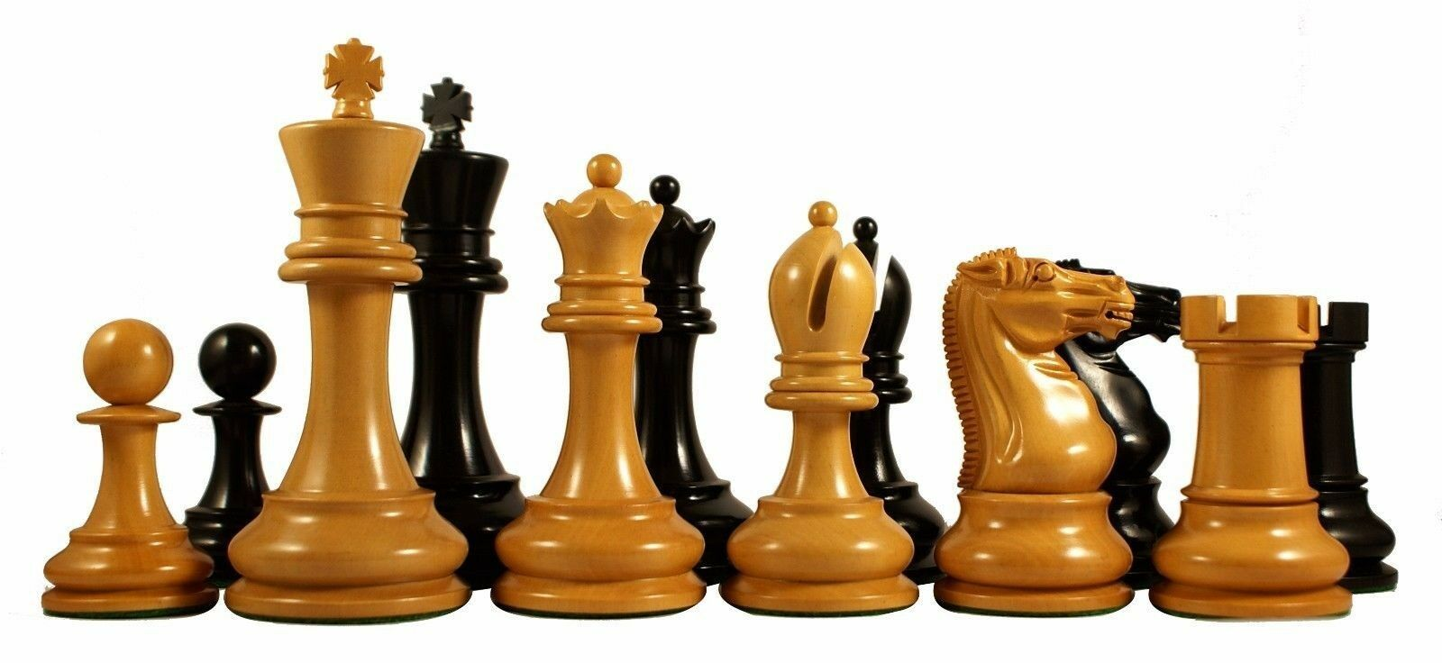 Reproduction BCC 1900-01 Edition Staunton Stroud Club Ebony Chessmen