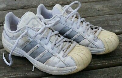 Original 2002 ADIDAS SUPERSTAR Athletic SHOES Size=10 US SILVERGREY Stripes | eBay