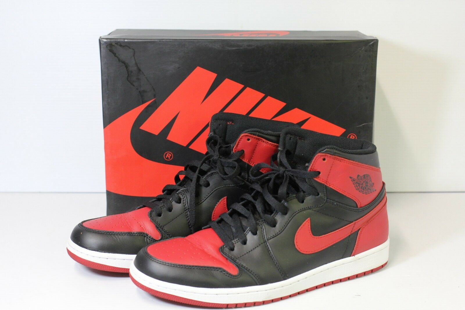8c96cb6c0142 Nike Air Jordan 1 Retro High OG Bred Black Red 2013 555088-023 DS 13 ...