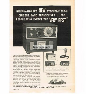 Advertising Shop For Cheap 1964 International Crystal Executive 750-h Transceiver Cb Ham Radio Vtg Print Ad