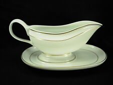 GENUINE LALIQUE LIMOGES DAMASSE GRAVY BOAT AND UNDERPLATE NEW OLD STOCK!!