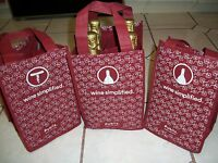 3 PUBLIX Wine Bags 4 Bottle Carriers Sturdy Reusable Totes Grocery Eco Friendly