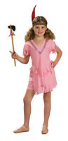 Pink Indian Girl Native American Costume Shirt Skort Childs Large 12 14 Made Usa