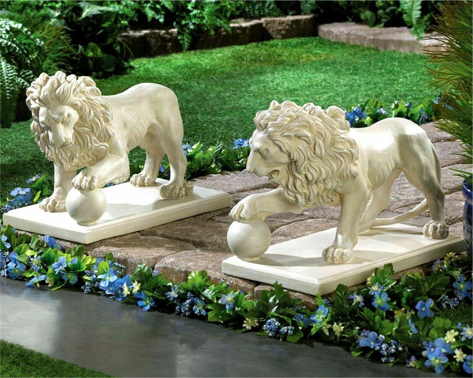 2 Piece Metal Flamingo Statue Set For Garden Sculptures And Figurines Outdoor For Sale Online Ebay