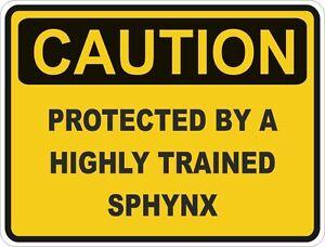 Cat-Breed-Sphynx-Caution-Sticker-Pet-for-Bumper-Car-Locker-Door-Truck-Locker