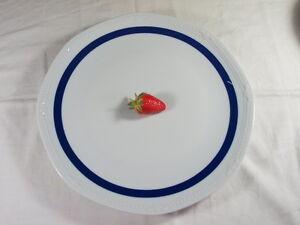 Mitterteich-Porzellan-Platte-Tortenplatte-Servierplatte-Teller-Sissi-blauer-Rand
