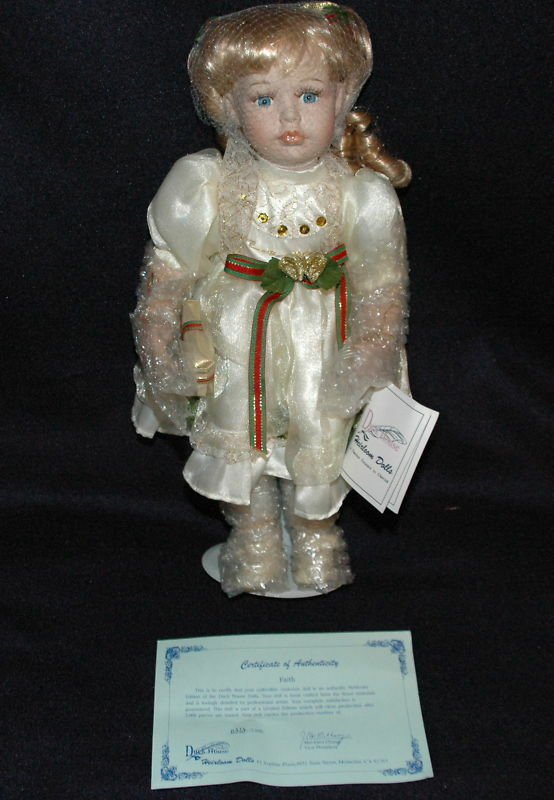 Pato casa reliquia Ltd Ed 0312 5000 Muñeca De Porcelana Fe Girl 15  Música Nuevo en Caja cert. de autenticidad