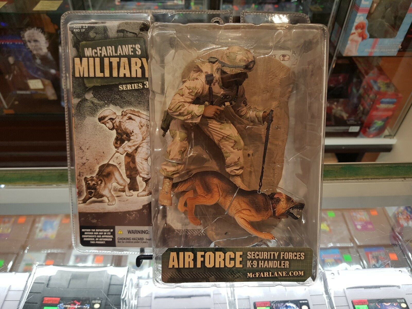 McFarlane - Military Series 3 - K-9 Handler - African American - SEALED
