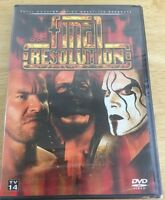 Tna Wrestling - Final Resolution 2007 (dvd, 2007) Sting Kurt Angle Aj Styles