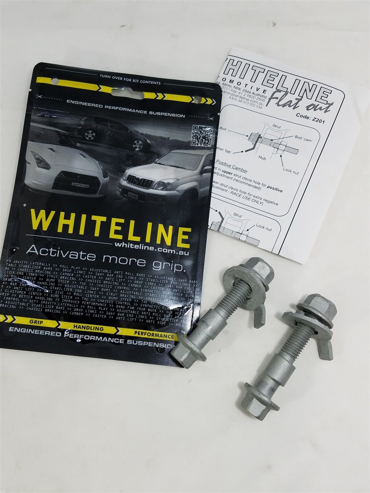 Whiteline 16mm Front Camber Adjustment Bolt Kit Acura RSX Type S /& Type R DC5