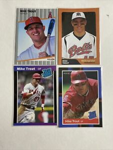 2009 Mike Trout 4 Card Rookie Lot $$ Hot $$