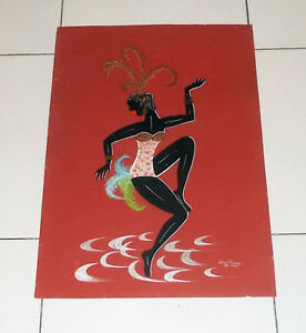 Quadro ELIAS DIVAN Josephine Baker - Rio de Janeiro 1966 stencil collage Brasile - Italia - Quadro ELIAS DIVAN Josephine Baker - Rio de Janeiro 1966 stencil collage Brasile - Italia