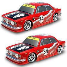 COLT GIULIA GTA 200mm Clear Body Set 1:10 RC Cars On Road 2pcs Combo #M2311 x2