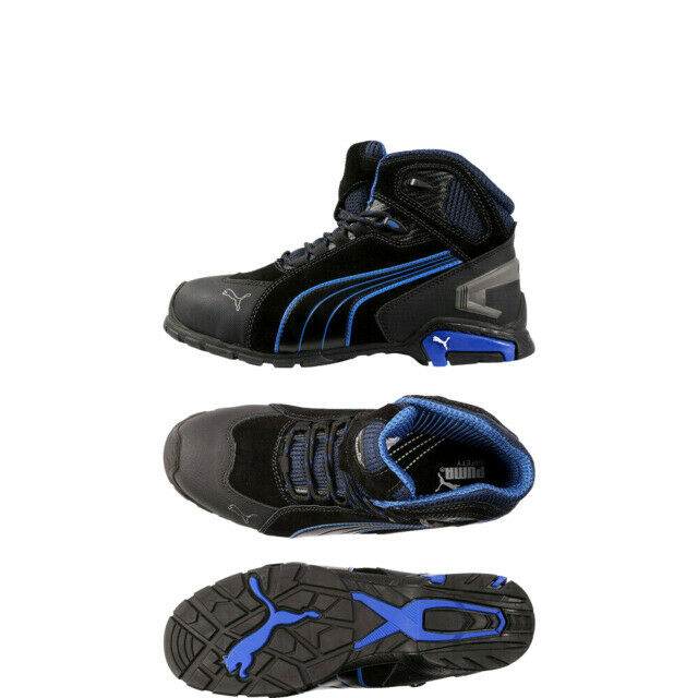 PUMA Rio Mid Safety Boots for Men, Size UK 9 - Black for sale ...