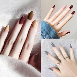 24pcs Long Fake Nails Art Tips Acrylic Nail False French Artificial