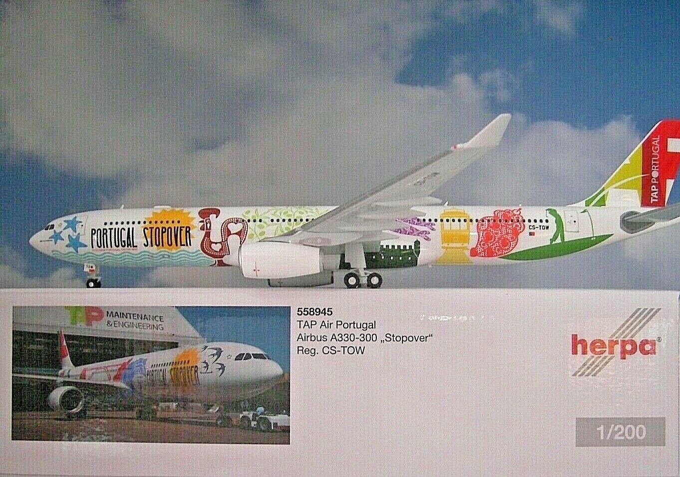 Herpa Wings 1 200 Airbus a330 300 TAP Portugal CS-Tow 558945