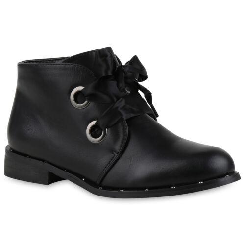 Damen Stiefeletten Schnürstiefeletten Modische 818029 Schuhe